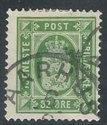 Denmark 1875   Sc#O9   32o Official  Used  2016 Scott Value $32.50 - Officials