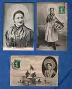 62 Pas De Calais Boulogne Sur Mer Boulonnaise  Matelote Lot De 6 Cartes Postales Format 9 X 14 (4 Scans ) - Boulogne Sur Mer