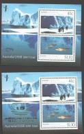 1990 Coopération Australie - URSS En Antarctique - Bloc Normal Et Surchargé  NZ 1990 ** - Mint Stamps