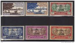 WALLIS Et FUTUNA 1944   Lot  Poste Yvert Série  N° 125 / 126 /127 / 128 / 129 / 130 Neufs Avec Charnières - Wallis-Et-Futuna