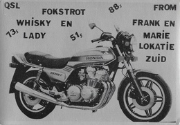 QSL Karten, CB Station Bernhardiner (Bernhard Haberland, Hamburg) - Moto Honda CB 750 - Carte Non Circulée - CB