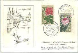 FDC FRANCIA 1962 - Roses