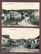 """FOULAIN  (52) :  Lot De 2 Cartes  """" GRANDE RUE """" Et """" ANCIENNE ROUTE """" - France"""