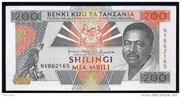 TANZANIA : 200 Scellini - 1993  - P25 -  UNC - Tanzania