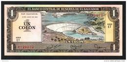EL SALVADOR  : 1 Colon - 1980 - P125 - AUNC - El Salvador