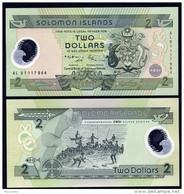 ISOLA SALOMON (SOLOMON ISLANDS)  : 2 Dollars - Polymer - P23  - UNC - Isola Salomon