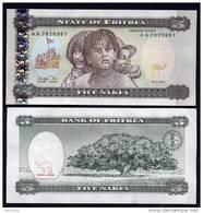 ERITREA : Banconota 5 Nafka - 1997 - FDS - Eritrea