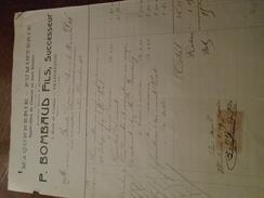 1911- FACTURE De VILLEURBANNE ++ TP / QUITTANCES N° 11 - 1 Photo - Fiscaux