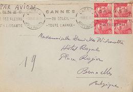 Marianne De Gandon 721A   -   Cannes  5.8.48   Avion Pour L'Europe - Postmark Collection (Covers)
