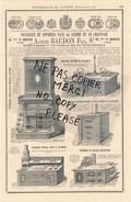 PUB Illustrée 1877 Fourneaux Cuisine Chauffage ALFRED BAUDON Fourneaux à Grillade A FAYET Fabricant DELAROCHE - Pubblicitari
