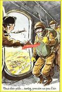 CPSM Illustration Paul Ordner Militaria  Vous êtes Pâle Sortez PARACHUSTISTE - Humour