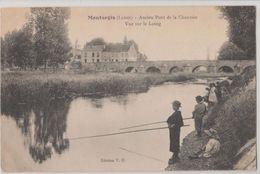 45 Montargis 1915 Gamins Pêcheurs Ancien Pont De La Chaussée TB Animée éditeur V.O. - Montargis