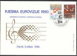 Yugoslavia Croatia Zagreb 1990 / Music / Eurovision Song / Concert Hall Vatroslav Lisinski - Musica