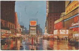 CPSM:  New-York City  (états-unis):   Time Square At Night En 1966.  (très énimé)     (D2150) - Time Square