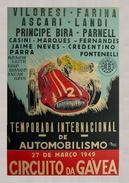 Automobile Brazil Grand Prix Circuito Da Gávea 1949 - Postcard - Poster Reproduction - Publicité