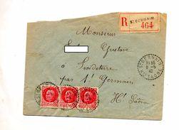 Lettre Recommandee Saint Germain Sur Petain - Postmark Collection (Covers)