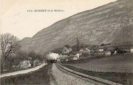 CPA - BOSSEY (74) - Le Train à Vapeur Au Départ De La Gare - Environs De St-Julien-en-Genevois - France