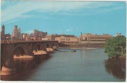 CPSM:  MINNEAPOLIS  (états-unis) :  The Third Avenue Bridge.   (D2156) - Minneapolis