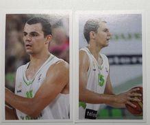 Slovenia Basketball Cards Stickers Nr.141,145 JureBalazic - Stickers