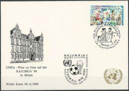 UNO WIEN - WEISSE KARTE Mi-Nr. 146 NAJUBRIA MAINZ 01.09.1994 - Wien - Internationales Zentrum