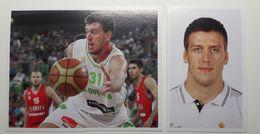 Slovenia Basketball Cards Stickers Nr.142,146-147 Matej Krusic Slovenia : Serbia - Stickers