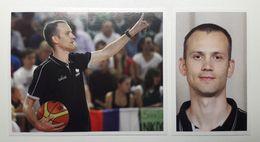 Slovenia Basketball Cards Stickers Nr.150, 154-155 Coach Gasper Potocnik EUROBasket 2013 - Stickers