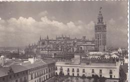 CPA Crantée SEVILLE ESPAGNE Cathédrale Timbre 20 & 25 Cts Cachet 08/07/1951 - Sevilla