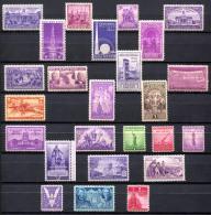 US 1938-43 - Ex Sc.835-907 (25 Stamps) MNH (postfrisch) Perfect (all VF) - Stati Uniti