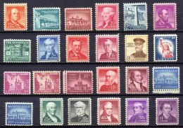 US 1954-60 Liberty Issue - Ex Sc.1030-1052 (part. Set) MNH (postfrisch) VF - Stati Uniti