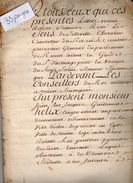 VP11.435 - ROUEN - Acte De 1765 - Entre Mrs G. HELIX Ecuyer Avocat à ORBEC & F.de MAILLET Chevalier Seigneur De FRIARDEL - Cachets Généralité