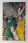 Slovenia Basketball Cards Stickers Nr.128 Dino Muric Union Olimpija : Khimki - Stickers