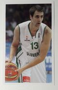Slovenia Basketball Cards Stickers Nr.112 Domen Lorbek - Stickers