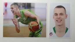 Slovenia Basketball Cards Stickers Nr. 111, 114-115 Klemen Prepelic - Stickers