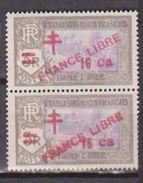 INDE          N° YVERT  209 X 2 ( 1ex France Libre . 1 Ex Prance Libre)  NEUF SANS CHARNIERES(n255) - India (1892-1954)