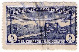 (I.B) Dominican Republic Telegraphs : 5c Deep Blue (1920) - Dominican Republic