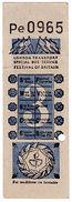 (I.B) Cinderella Collection : Festival Of Britain Special Bus Ticket 3d - 1952-.... (Elizabeth II)