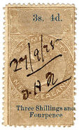 (I.B) New Zealand Revenue : Stamp Duty 3/4d (reversed & Inverted Watermark) - Unclassified