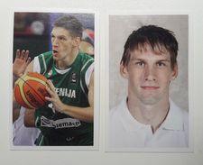 Slovenia Basketball Cards Stickers Nr. 131, 135 Gasper Vidmar - Stickers