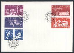 Sweden Sverige 1981 FDC + Mi H.Bl 111 YT C1144 - Sweden In The World / Schweden In Der Welt. - Fabbriche E Imprese