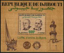 Djibouti C231A,MNH.Michel 486 Bl.136. Rotary,Lion International1987.Medicine, - Rotary, Lions Club