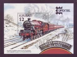 Kiribati 1996 - Treno, Gilbert And Ellice, Giubileo. BF MNH** Integro - Kiribati (1979-...)