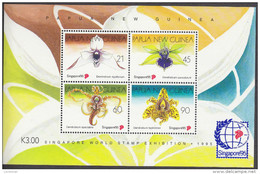 PAPUA NEW GUINEA, 1995 ORCHIDS MINISHEET MNH - Papua New Guinea