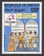 Djibouti C244,MNH.Michel 526. PHILEXFRANCE-1989.Declaration Of Human Rights,200. - Philatelic Exhibitions