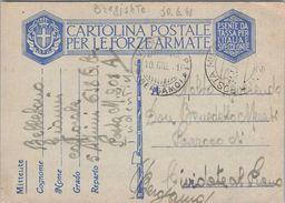 ITALY - CARTOLINA POSTALE PER LE FORZE ARMATE 1941 BERGAMO - 1900-44 Victor Emmanuel III