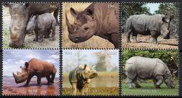 Faune Africaine, Rhinocéros - 6 Timbres Neufs 2011 // Mnh - Rhinozerosse
