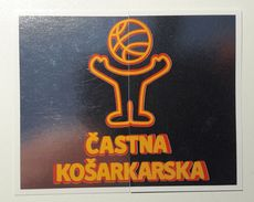Slovenia Basketball Cards Stickers Nr.58-59 Basketbal Promise Fair Play - Stickers
