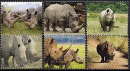 Faune Africaine, Rhinocéros II - 6 Timbres Neufs 2011 // Mnh - Rhinozerosse