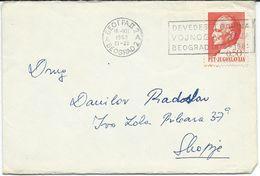 Militaria Yugoslavia Letter - Postmark ,,90 Ann. Military Museum - Belgrade 1878 - 1968. - Militaria