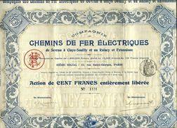 """Action """"Chemins De Fer Electriques"""" 1909 - Railway & Tramway"""
