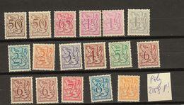 Belgie - Belgique Ocb Nr :  Lot POLY Oa 2159P !   ** MNH   (zie  Scan) - 1977-1985 Chiffre Sur Lion